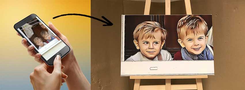 SCITATOVANÝ obraz na plátne z vlastnej fotky