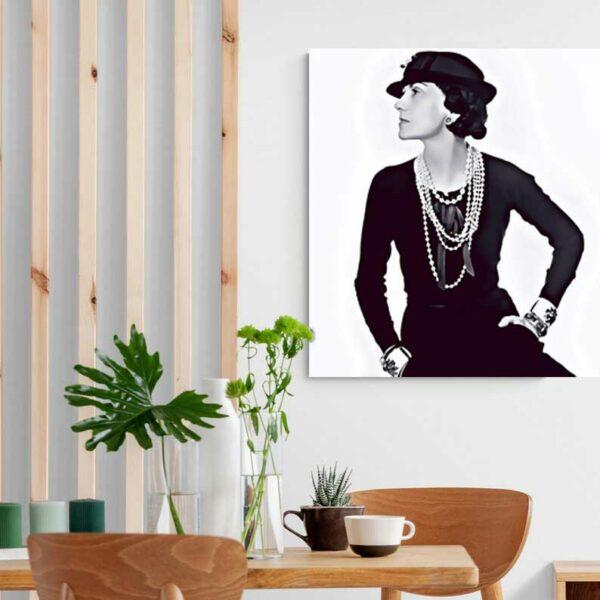 obraz na plátne s coco chanel